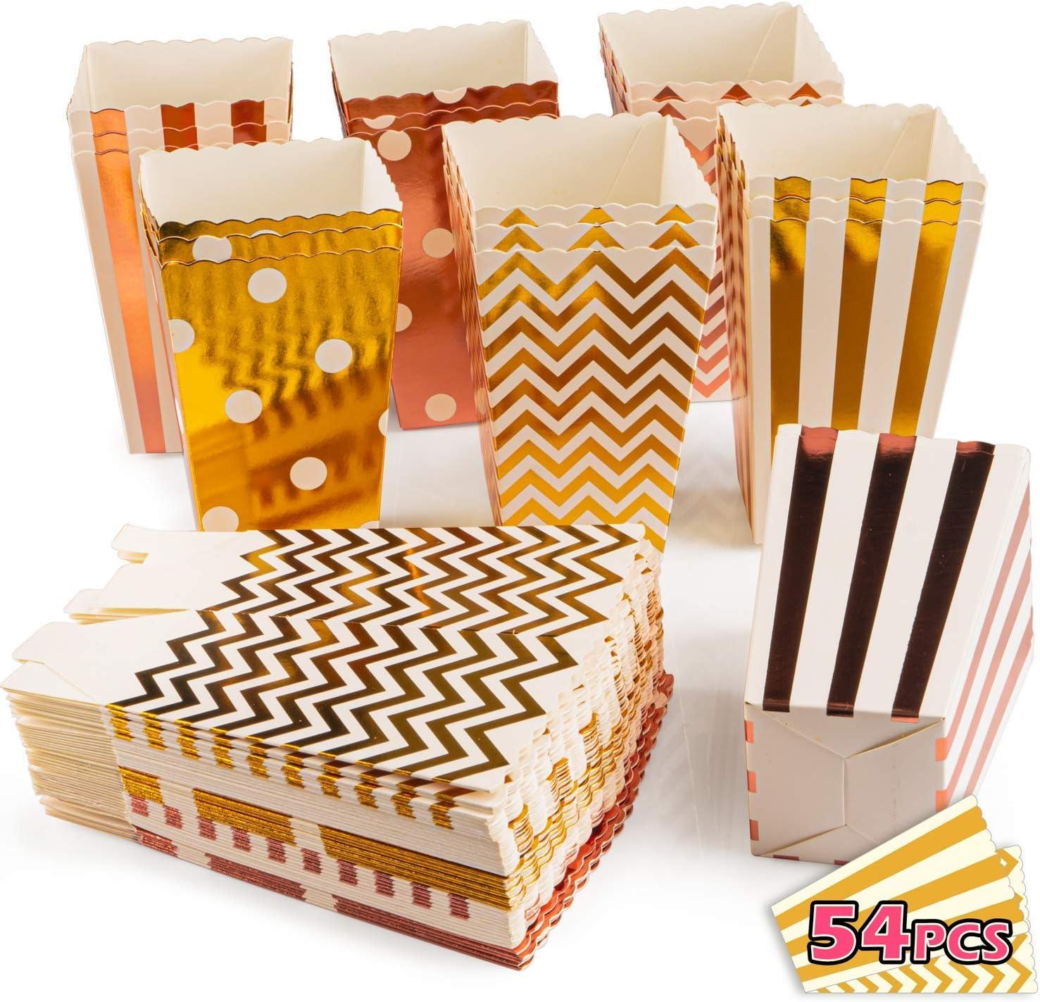 VIBIRIT Paquete de 54 Cajas de Palomitas de maíz, cartón de Grado ...