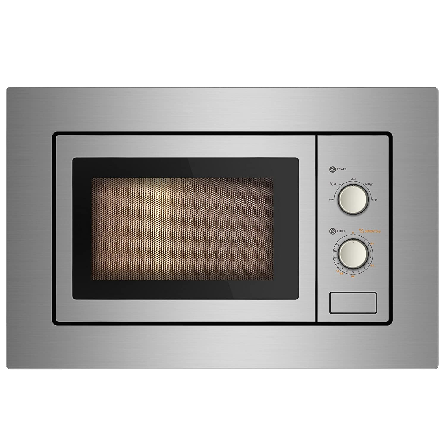 Cookology IM17LSS Built-in Microwave in Stainless Steel | Integrated Frame Trim Kit