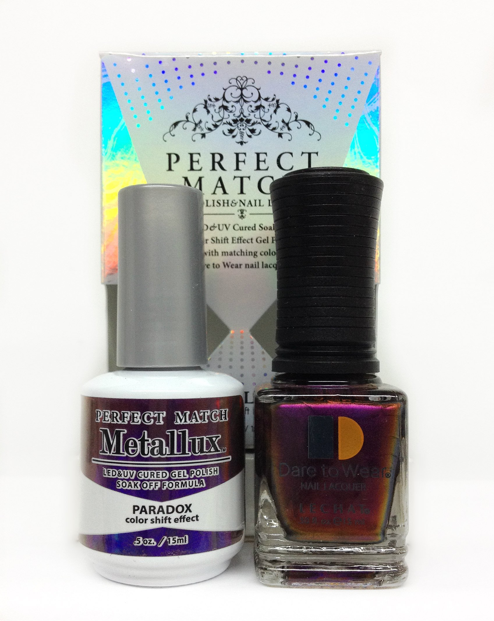 Amazon.com: LECHAT Perfect Match Gel Polish & Nail Lacquer Duo 0.5oz ...