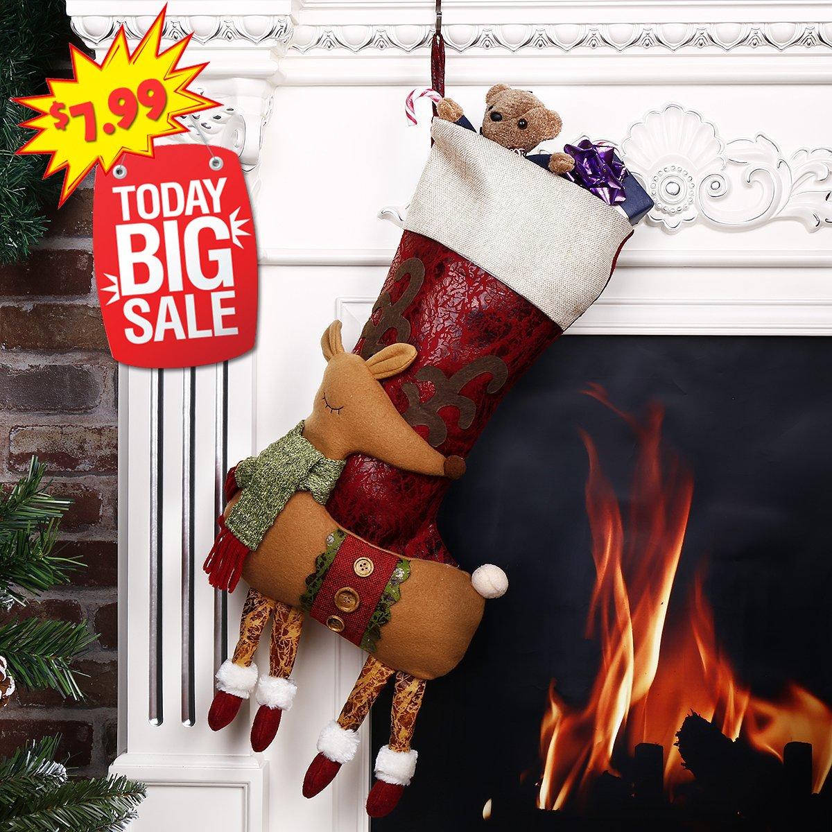 Amazon.com: Happon Classic Christmas Stockings 18\