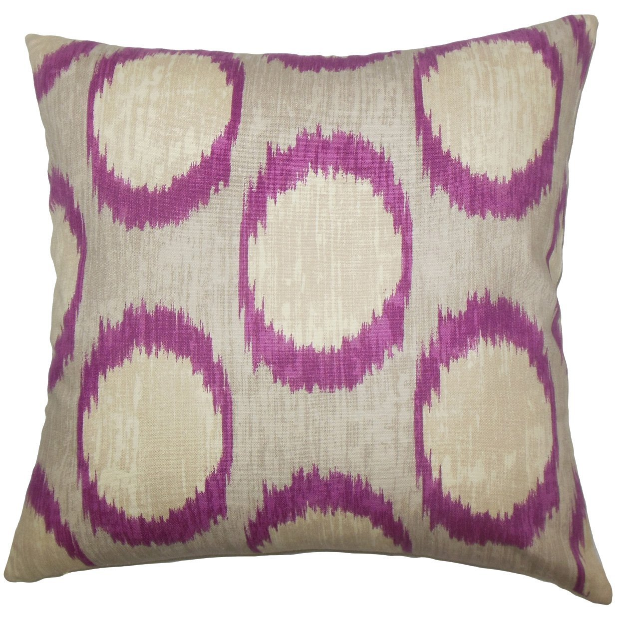 The Pillow Collection Ridha Ikat Bedding Sham Currant Euro 26 X 26 Home Kitchen Throw Pillow Covers