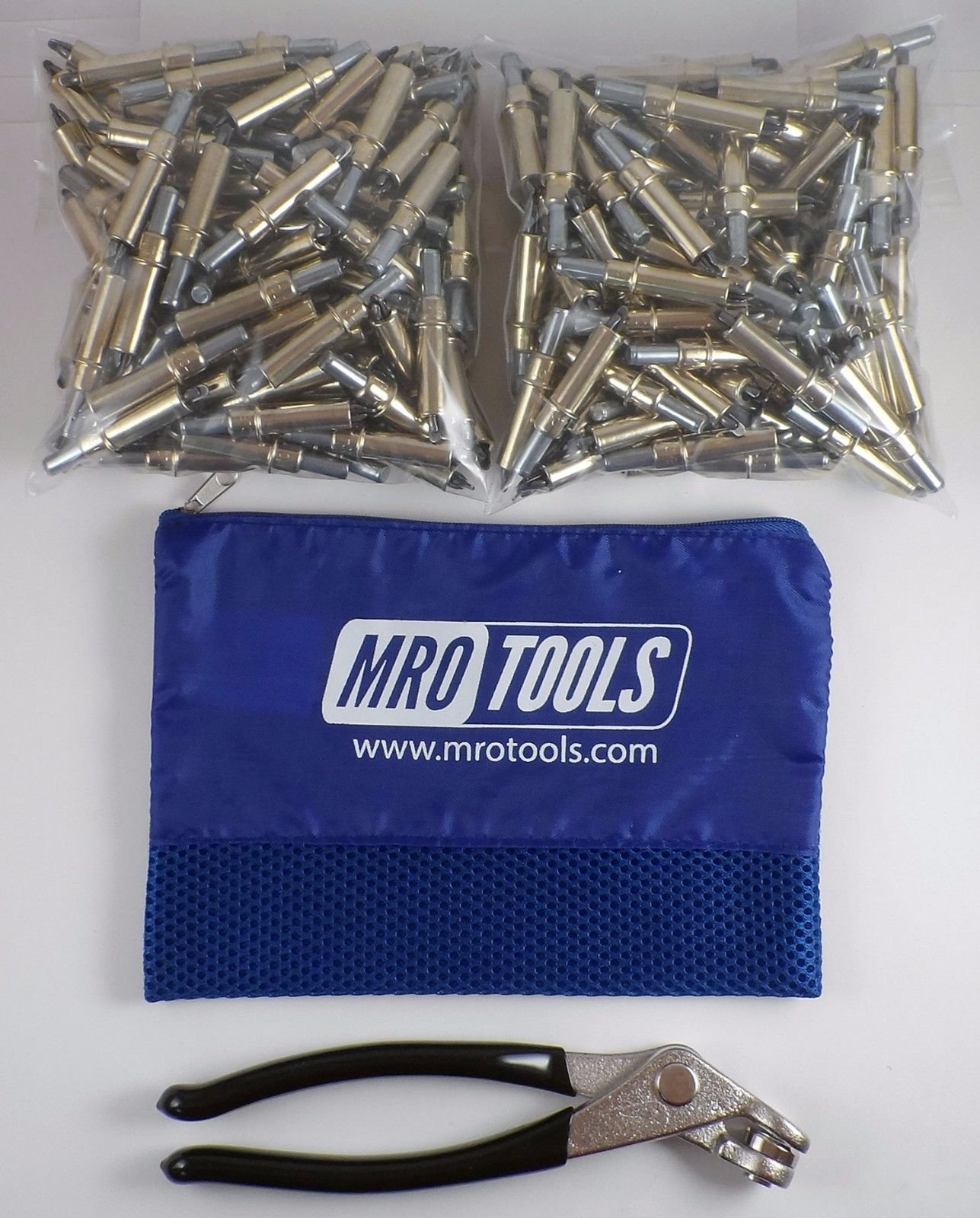 200 3/16 Cleco Sheet Metal Fasteners + Cleco Pliers w/Carry Bag (K1S200-3/16) by MRO Tools Cleco Fasteners