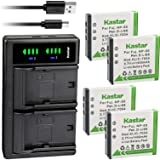 Kastar 4-Pack SX-50 Battery and LTD2 USB Charger Replacement for SiOnyx Aurora SX-50 SX50 Battery, SiOnyx Aurora PRO…