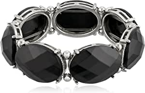 "1928 Jewelry ""Jeweltones"" Oval Faceted Stretch Bracelet"