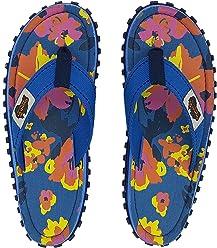 773d919540f2d Gumbies Islander Canvas Flip-Flops - Women s - Floral Blue