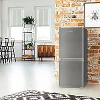 Klarstein Big Daddy Cool 100 • Combi réfrigérateur-congélateur • Réfrigérateur 73L • Congélateur 33L • 106 litres en tout • régleur de température • 2 étagères • ca. 47 x 112 x 49 cm (LxHxP) • inox