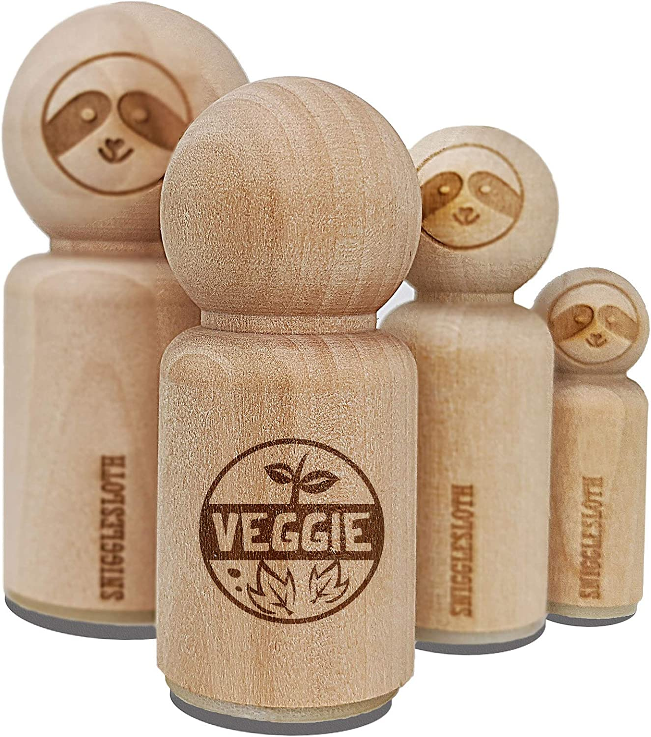 Food Label Veggie Rubber Stamp for Stamping Crafting Planners - 1-1/4 Inch Large
