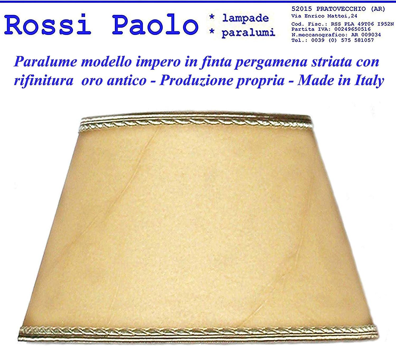 diametro 30 Paralume impero in finta pergamena produzione propria made in Italy