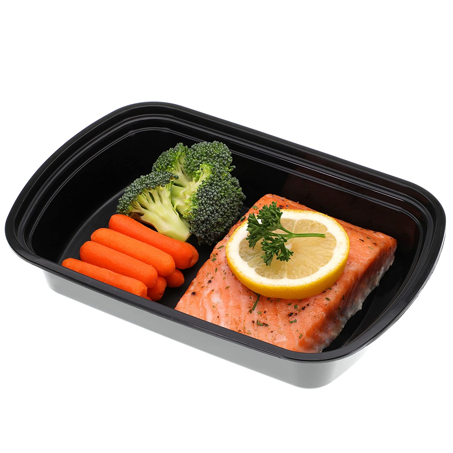Freshware Meal Prep Containers 150 Pack 1 Compartment with Lids Food Storage Bento Box  BPA Free