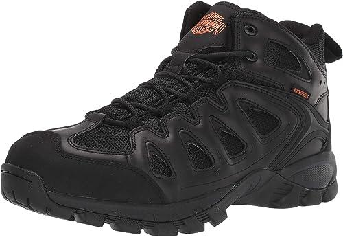 Harley-Davidson Men/'s WOODRIDGE Black Waterproof Leather Shoes D93583