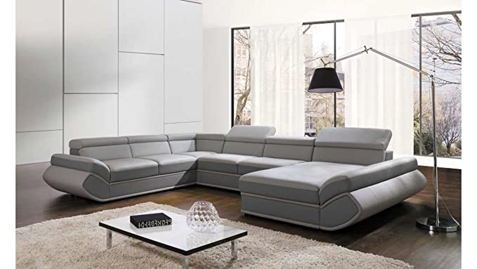 JUSTyou Genesis XL-FP Comfort Sofá esquinero Chaise Longue ...