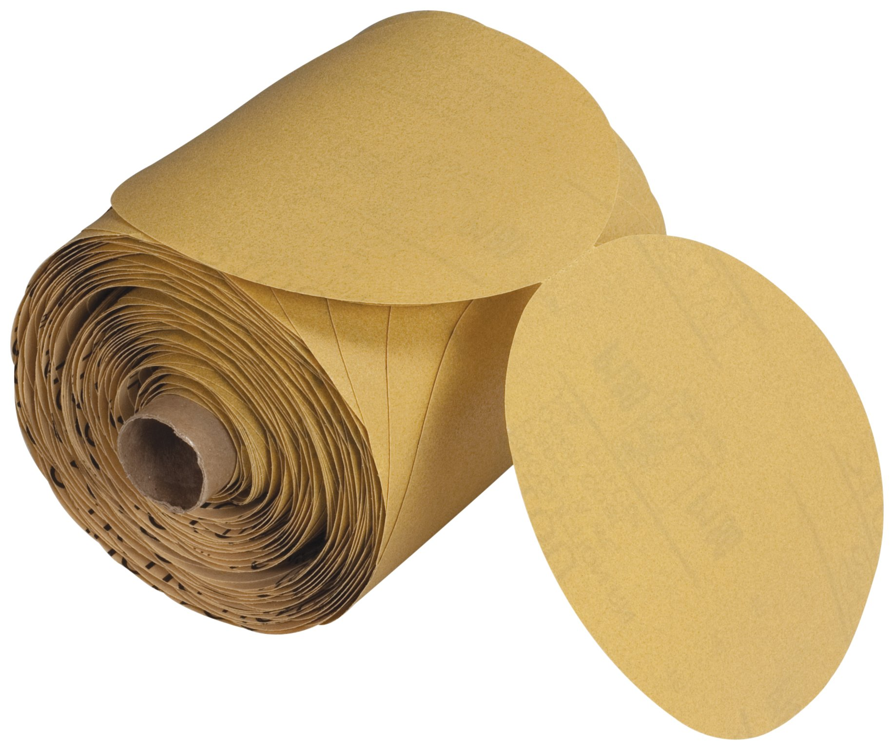 3M Stikit Paper Disc Roll 210U, Aluminum Oxide, 5'' Diameter, P400 Grit (Roll of 250)