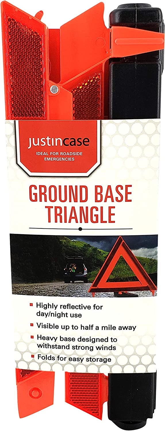 Reflective Safety Triangles for Roadside Emergencies Justin Case Safety Reflective Triangle Pack of Three