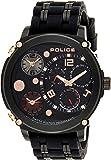 Police Sagano Men's Black Dial Silicone Band Watch - P 15659JSB-02P