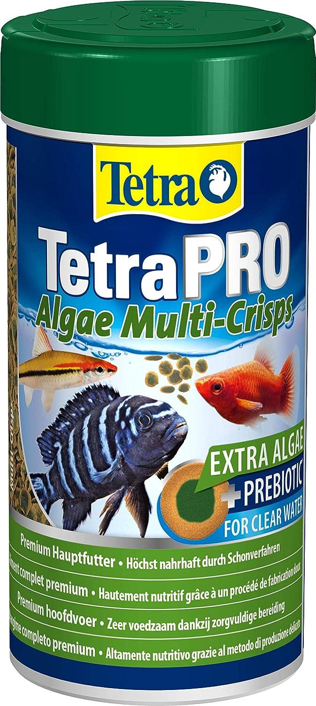 Tetra PRO Algae Multi-Crisps Mangime Completo di Alta qualità con Valori Nutrizionali Elevati, Concentrato di Alghe Addizionali Aumenta la Resistenza dei Pesci - 250 ml