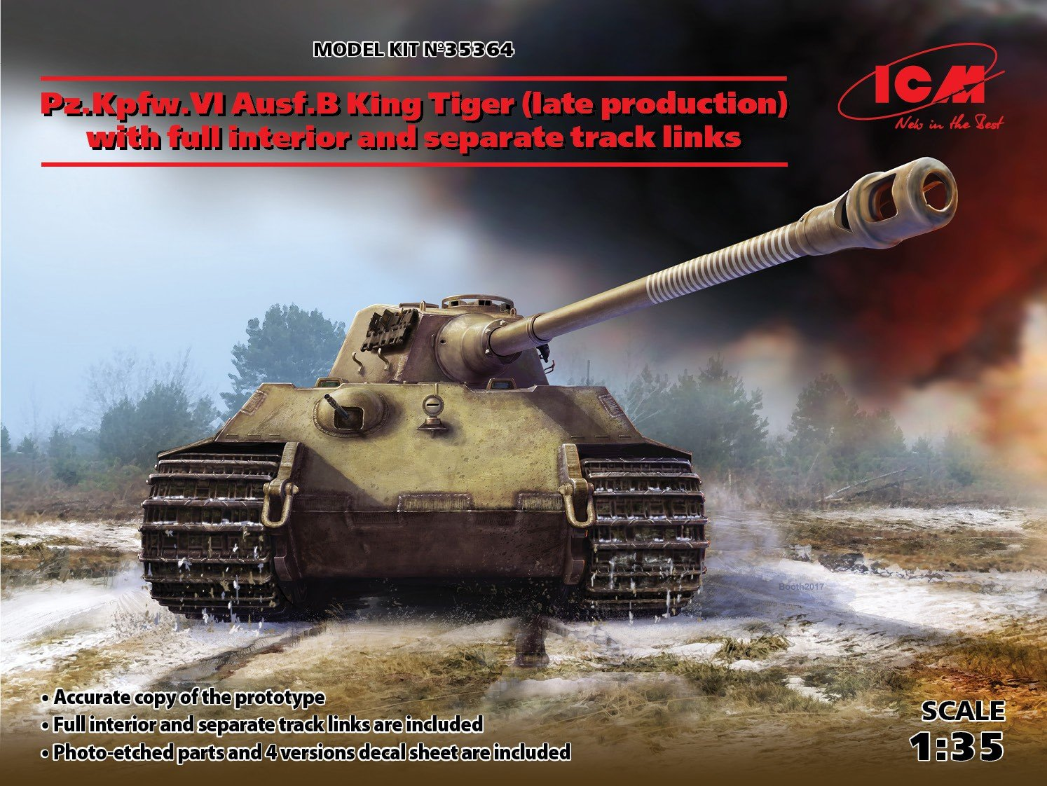 ICM35364 ICM35364 ICM35364 1/35 KingTiger Ausf. B w/int. 3c6593