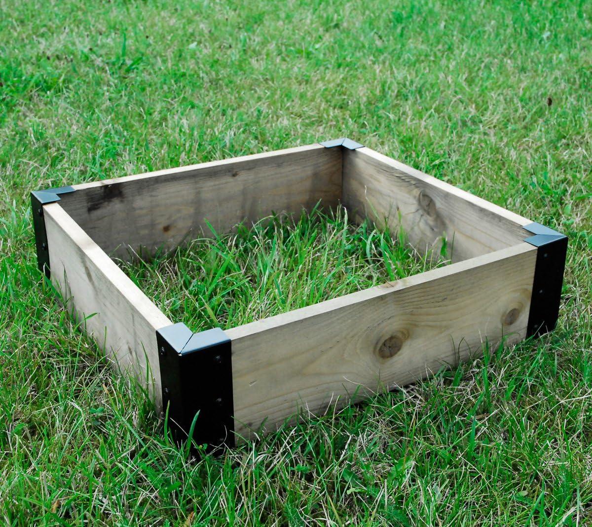 Large Corner Brackets Raised Bed Bedding Vegetable Planet Box Garden x 4 Black