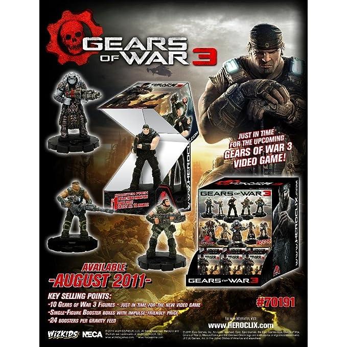 Wizkids /Neca 70191 – Gears of War heroclix Display 24 CT Booster ...
