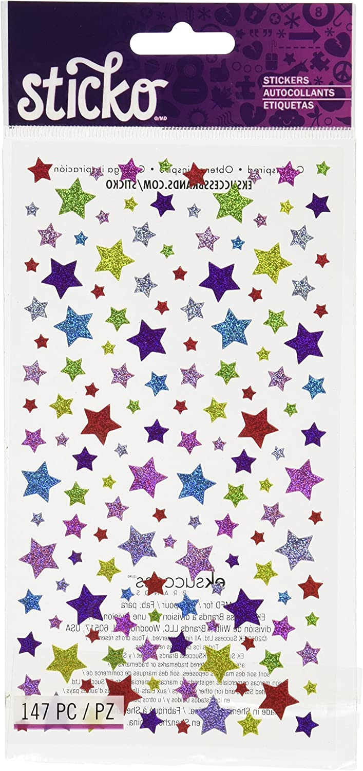 Sticko 450188 Stickers, Shimmery Stars