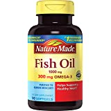 Nature Made Fish Oil 1000 mg w. Omega-3 300 mg Softgels 90 Ct