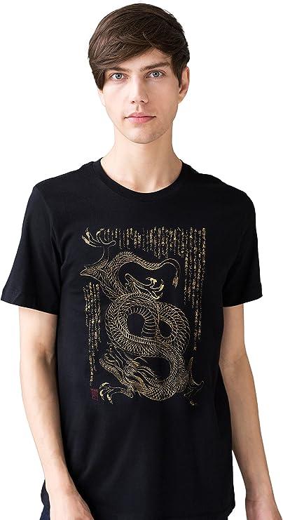 Camiseta De Estilo Japonés - Dragon Ryuu Camiseta Arte Tradicional Caligrafía Japonesa Ryu Japón Artes Marciales Yoga tee: Amazon.es: Ropa y accesorios
