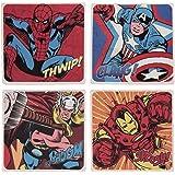 Vandor 26285 Marvel Comics 4 Piece Ceramic Coaster Set, Multicolored