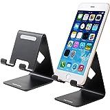 スマホ スタンド,HOTOR スマホホルダー iPhone&Android などほとんどのスマートフォン 対応 シンプルで実用 充電スタンド (ブラック)