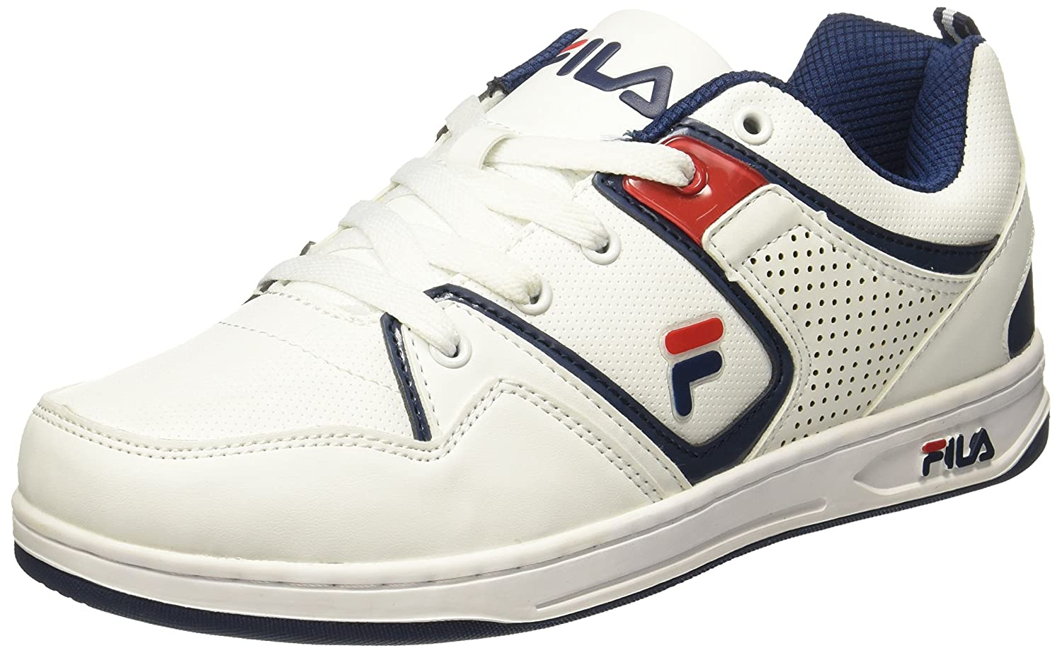 Navy and Fila Red Sneakers