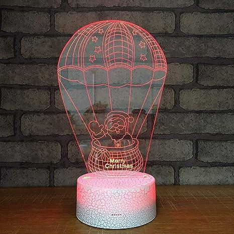 3D Ilusión óptica Lámpara LED Luz Globo de aire caliente de ...