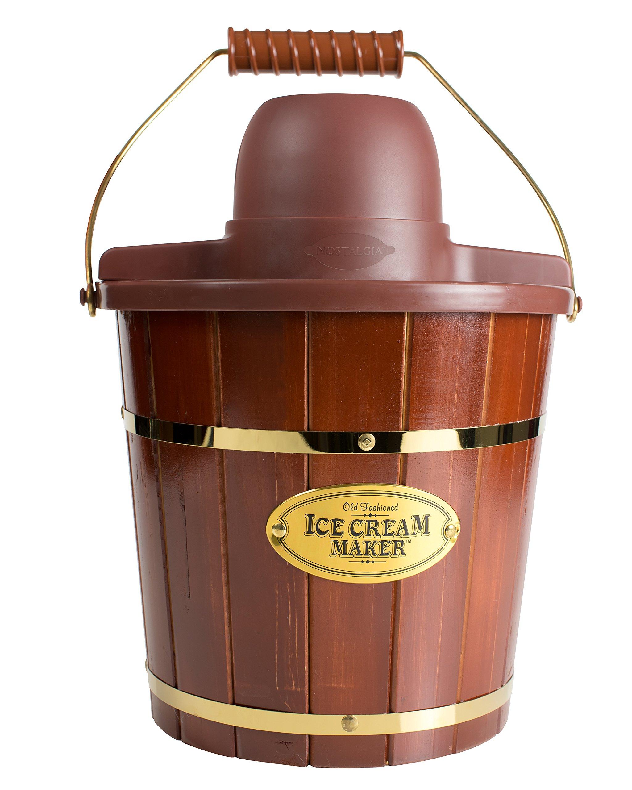 Nostalgia Wood Bucket Ice Cream Maker