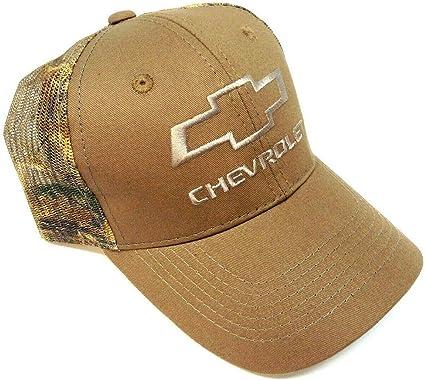 Realtree Brown Chevy Logo Camo Mesh Trucker Hat