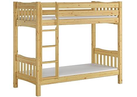 Erst-Holz Litera Pino massivholzbett Natural 90 x 200 Cama somier Enrollable colchones 60.15 –