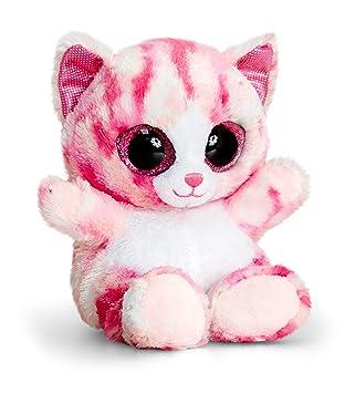 Keel Toys sf0442 15 cm animotsu rosa gato de peluche