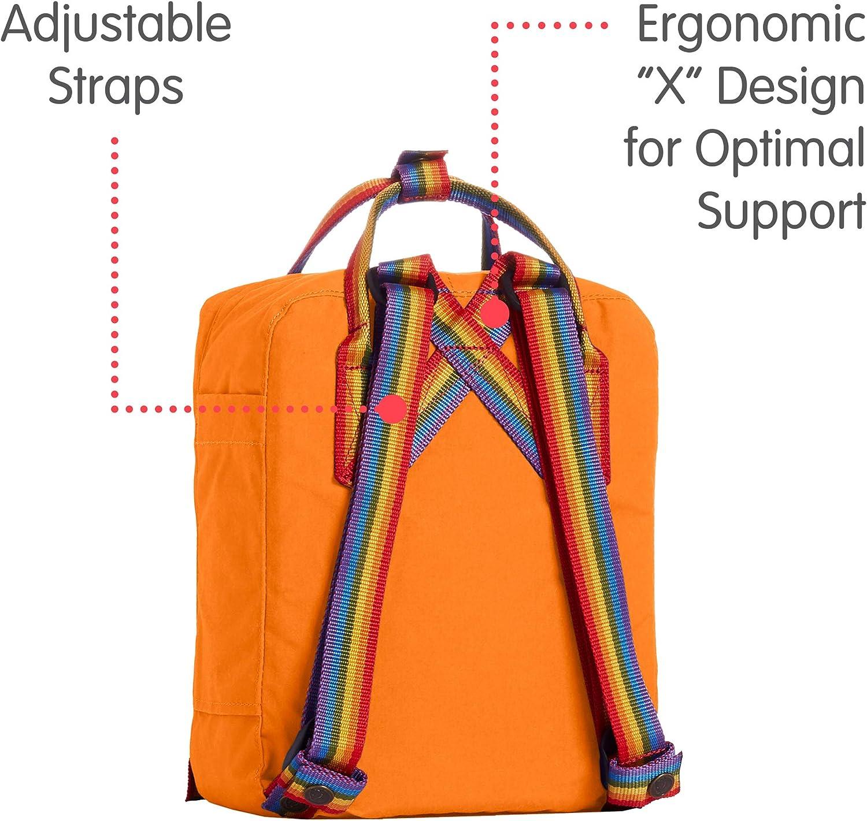 FJALLRAVEN Bagages Bleu Orange br/ûl/é-Rainbow Pattern