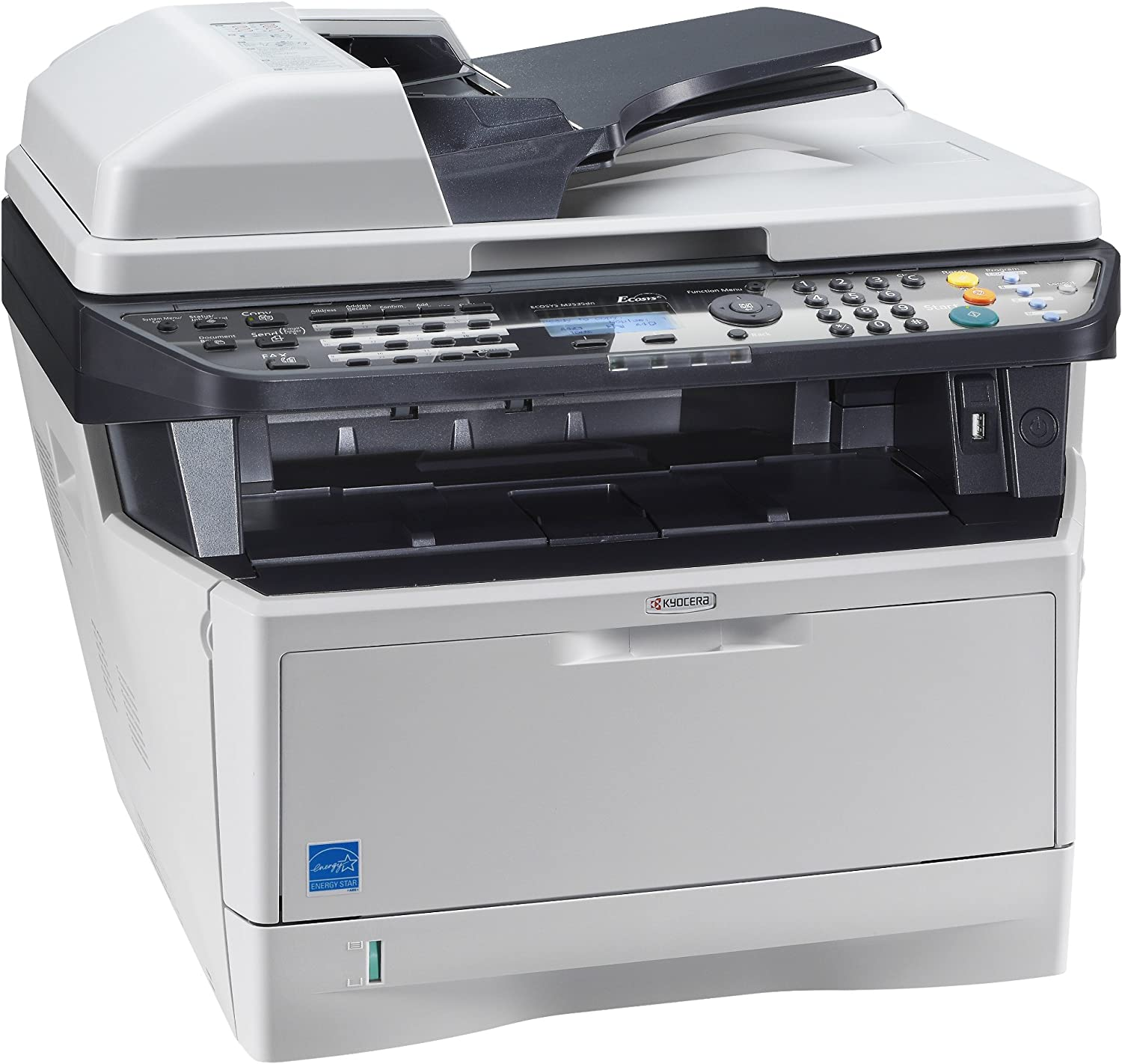 Kyocera 550PN550US50 ECOSYS M550535dn Black and White Multifunctional Network  Printer; Standard Print, Copy, Fax and Color Scan; Fast Output Speed of 50