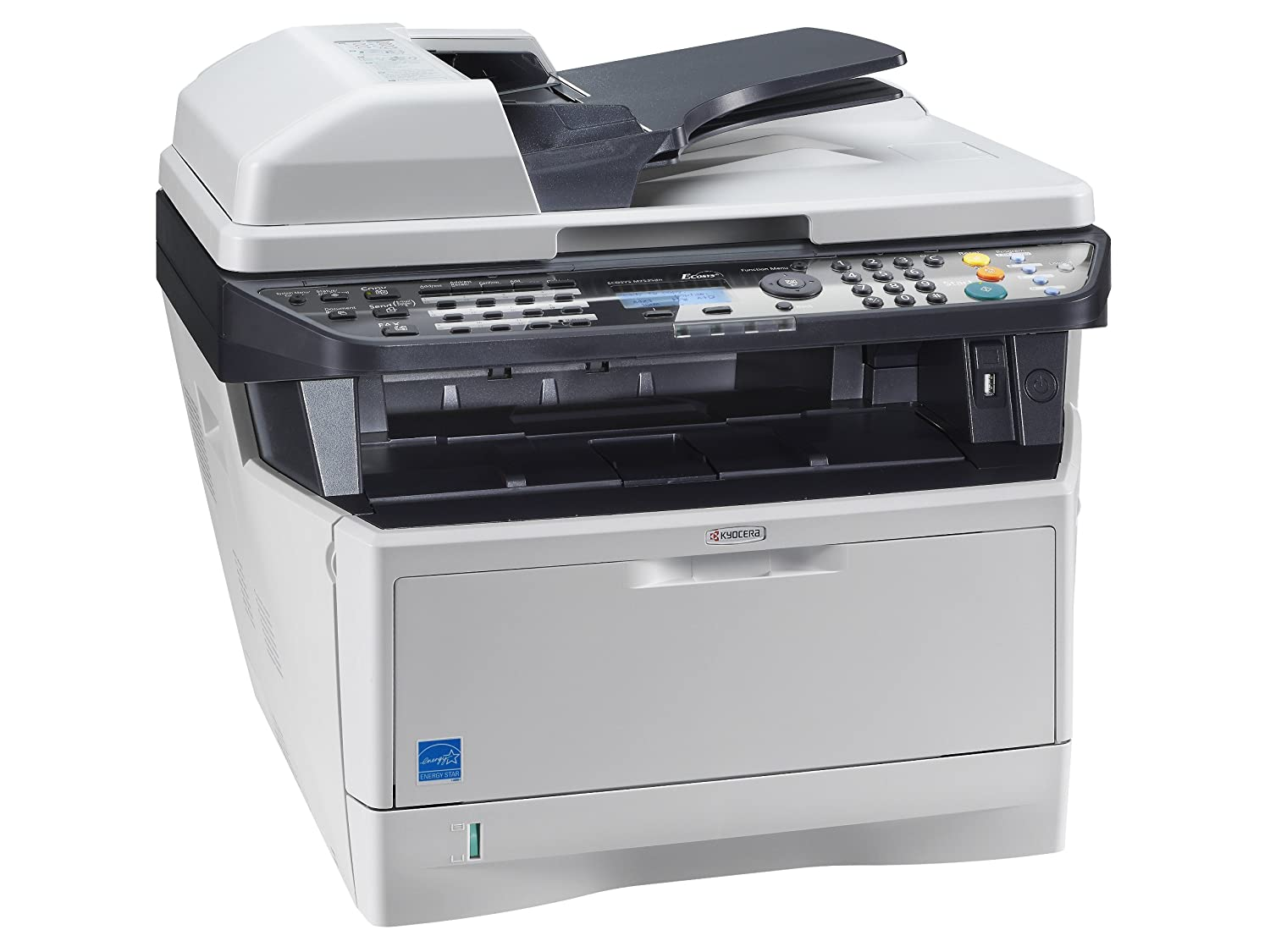 Amazon Kyocera 1102PN2US0 ECOSYS M2535dn Black and White Multifunctional Network Printer Standard Print Copy Fax and Color Scan Fast Output Speed