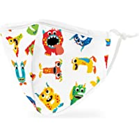 Weddingstar 3-Ply Kid's Washable Cloth Face Mask Reusable and Adjustable with Filter Pocket - Alphabet