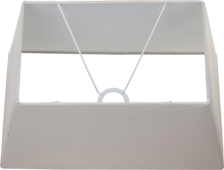 Taupe rechteckig Ma/ße unten: 39,5 x 23; oben: 29,5 x 18; H/öhe: 23 cm, 40 x 24 cm Better /& Best 40,5 x 24 Lampenschirm aus Leinen