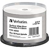 Verbatim DVD-R Wide Silver - DVD-R vírgenes, 50 unidades