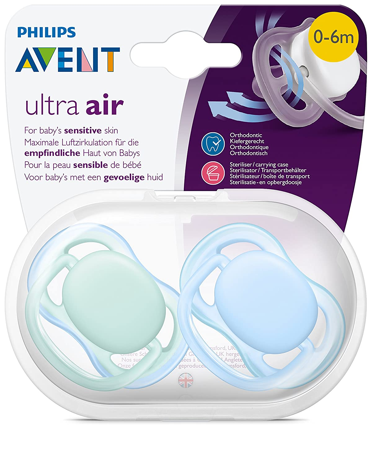 Philips AVENT SCF244/20 - Chupete (Ultra soft pacifier ...