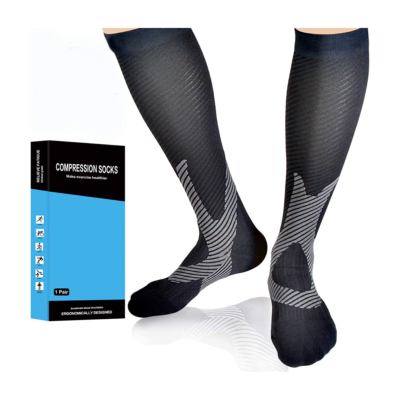 fbc2a64c2cc47 Compression Socks Men, 20-30 mmHg,Women Best Athletic,Running, Flight  Travel, Shin Splints, Nurses, Pregnancy,Circulation & Varicose Veins  Recovery ...