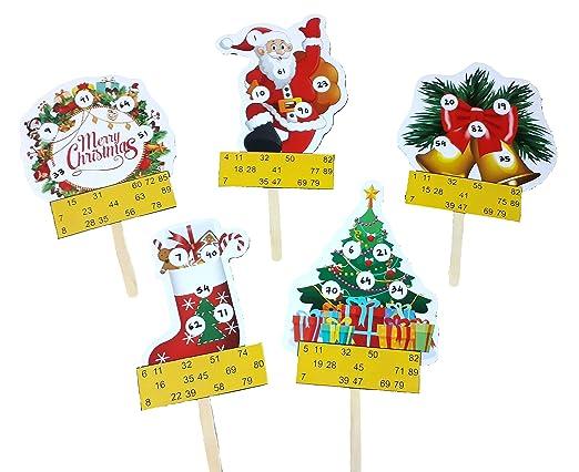 Christmas Theme Tambola Tickets Made by Smriti Singhania (25pc/Set)