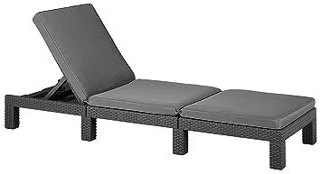 chaise longue de jardin allibert