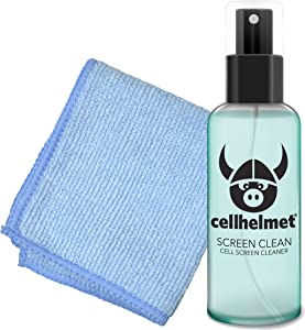 cellhelmet Screen Cleaner Kit - 1oz | Alcohol and Ammonia Free Sweet Mint Scented Gel and Microfiber Cloth | Retail Packaging | as Seen on Shark Tank