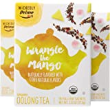 Wickedly Prime Organic Oolong Full-Leaf Tea, Wrangle The Mango Premium Tea Sachets, 15 Count (Pack of 3)