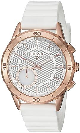 93dbbf93e9f8 Amazon.com  Fossil Hybrid Smartwatch - Q Modern Pursuit White  Watches