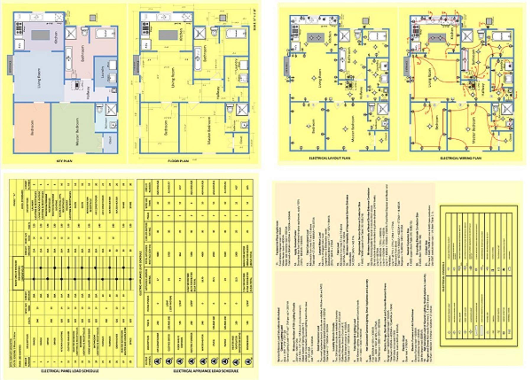 residential electrical wiring diagrams sample house plan layoutsresidential electrical wiring diagrams sample house plan layouts and calculations staple bound \u2013 abridged, 2016