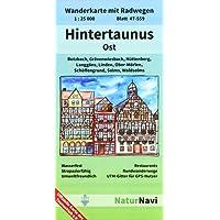 Hintertaunus Ost: Wanderkarte mit Radwegen, Blatt 47-559, 1 : 25 000, Butzbach, Grävenwiesbach, Hüttenberg, Langgöns, Linden, Ober-Mörlen, ... (NaturNavi Wanderkarte mit Radwegen 1:25 000)