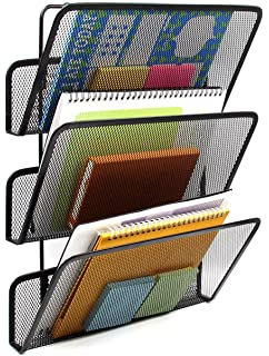 easypag 3 tier assembly mesh wall file pocket hanging file organizer holder black