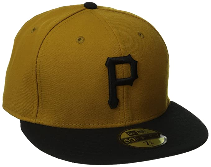 5a7f5658188 Amazon.com  New Era 59FIFTY Pittsburgh Pirates Team Alternate 2 Baseball Hat  Gold Black  Sports   Outdoors